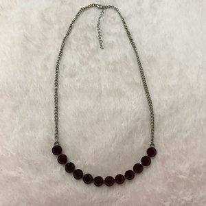 Red Ruby Gem Necklace